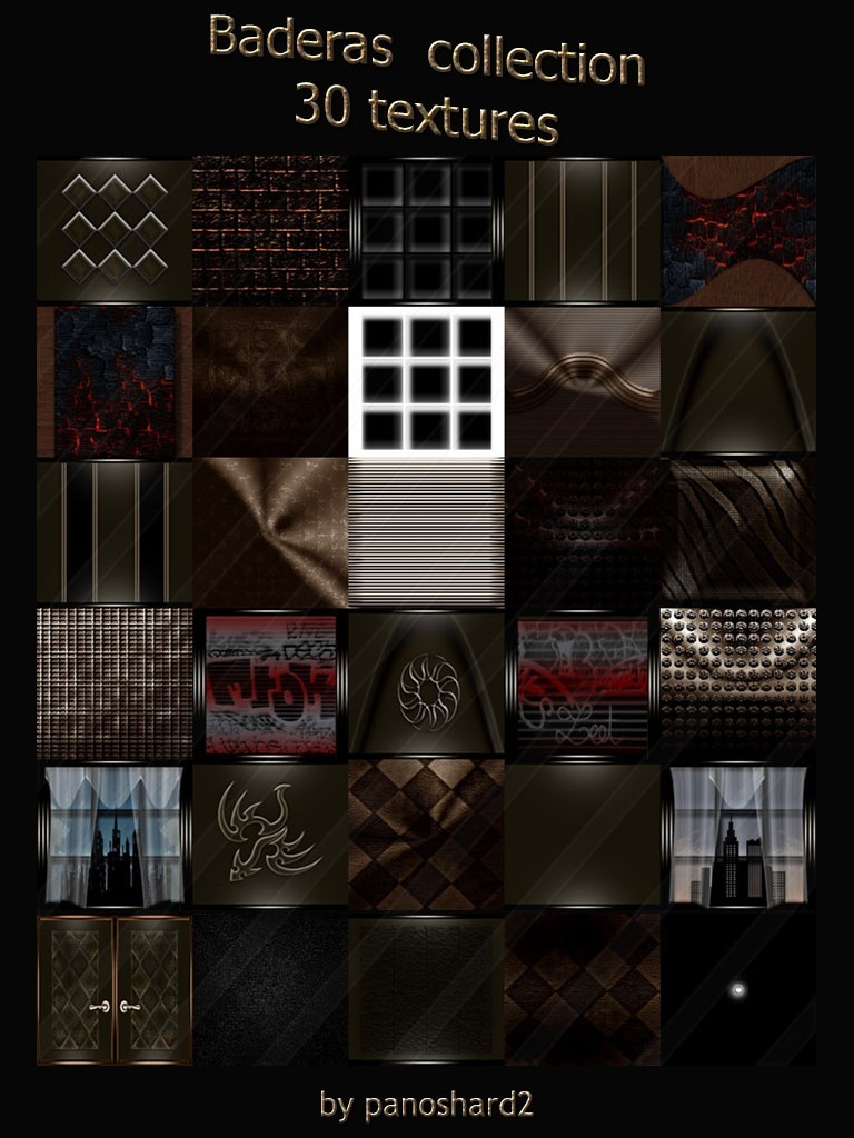 Baderas collection 30 textures for imvu room