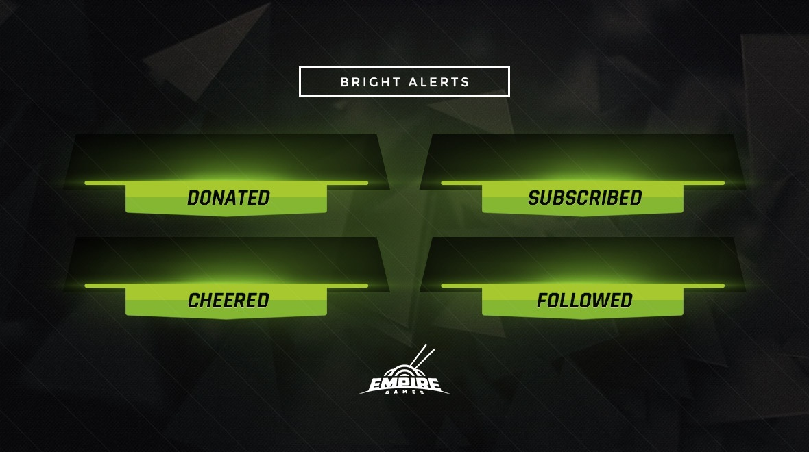 Stream Alert Set - Bright (x4) - Green
