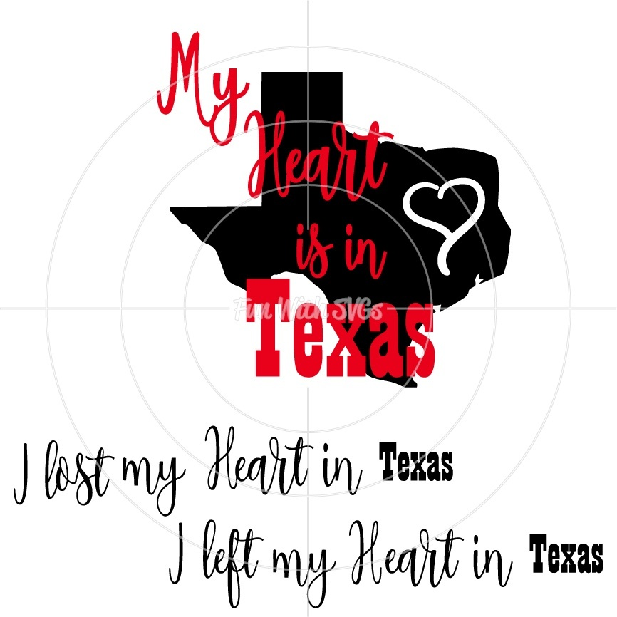 My Heart is in Texas SVG, Texas, Hurricane Harvey FREE SVG, Cricut, Silhouette, Printable