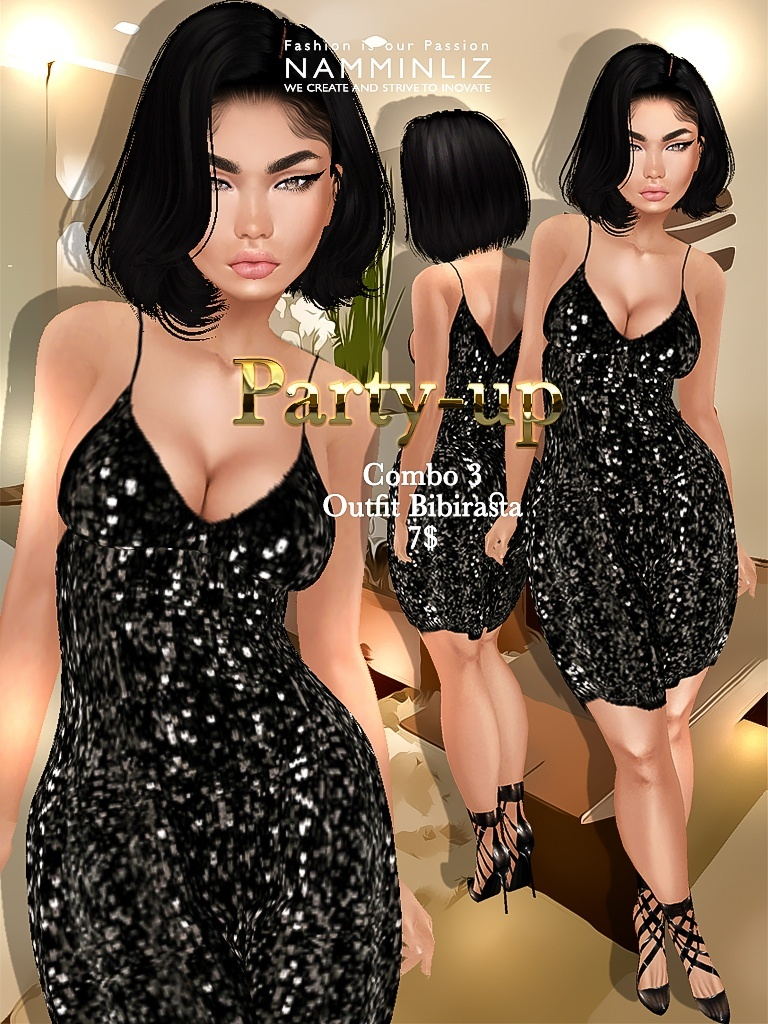 Party-up Full combo Bibirasta 8 outfits imvu JPG textures NAMMINLIZ filesale