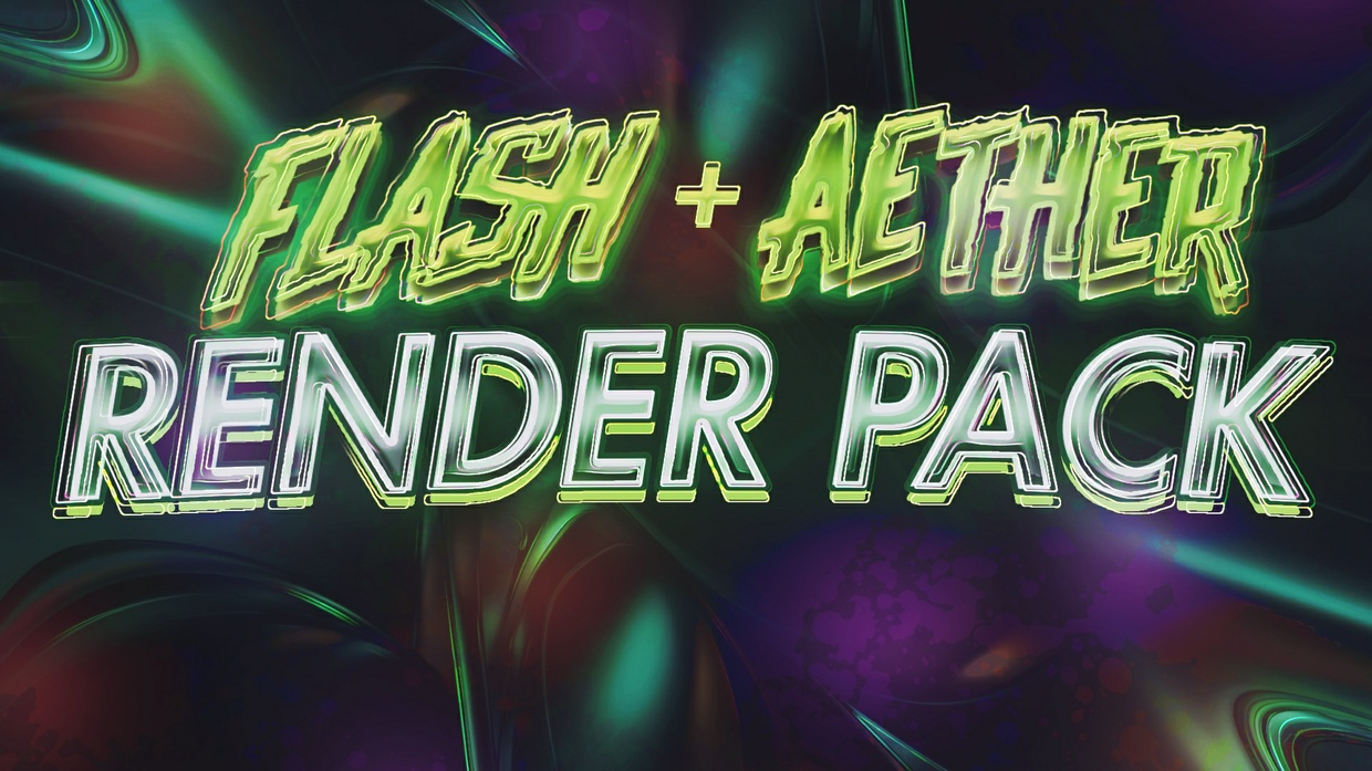 Flash + Aether Render Pack