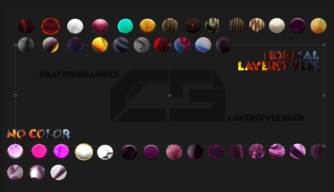 Craftergraphics Layerstyle Pack