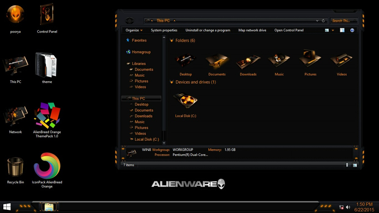 AlienBreed Orange IconPack