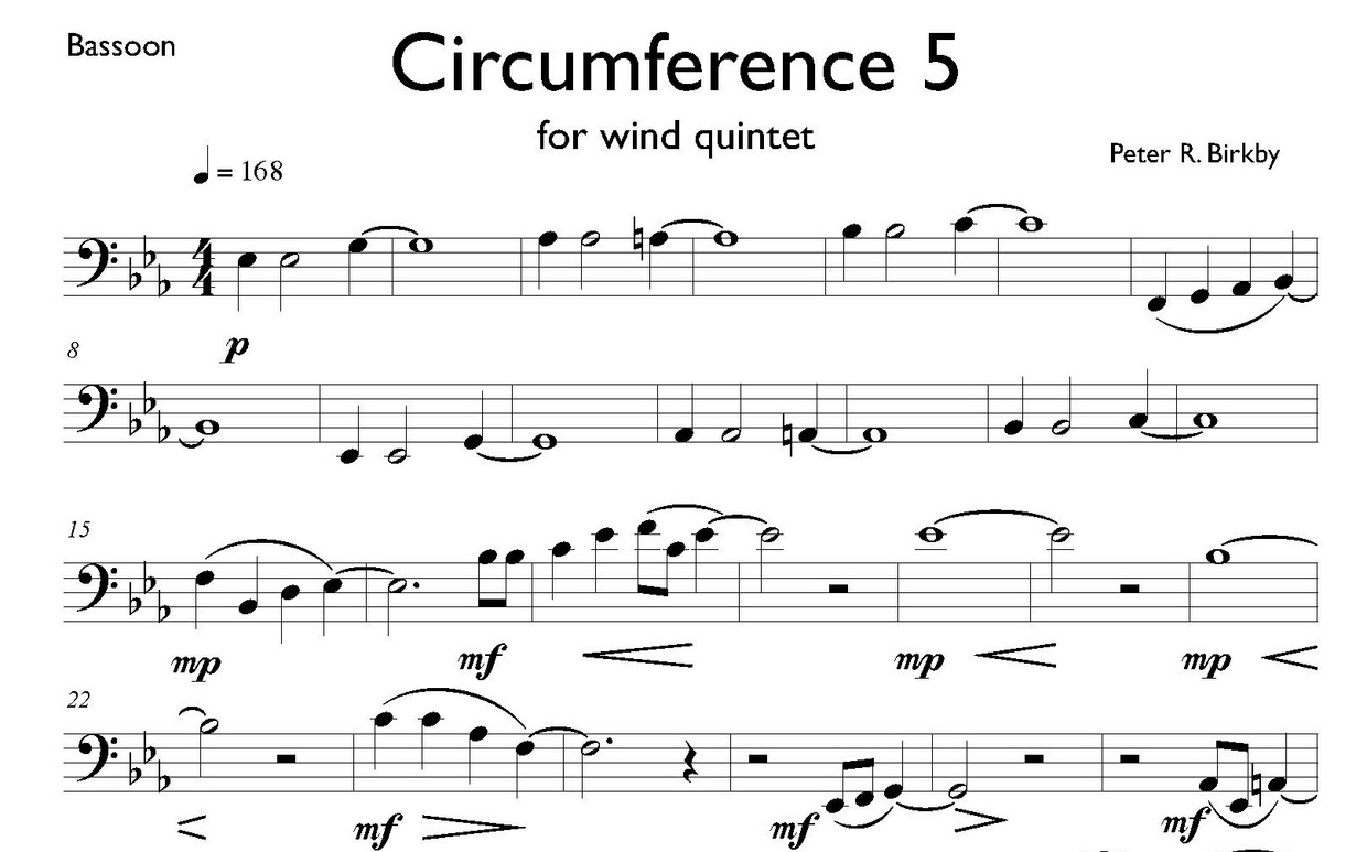 Circumference 5 for wind quintet