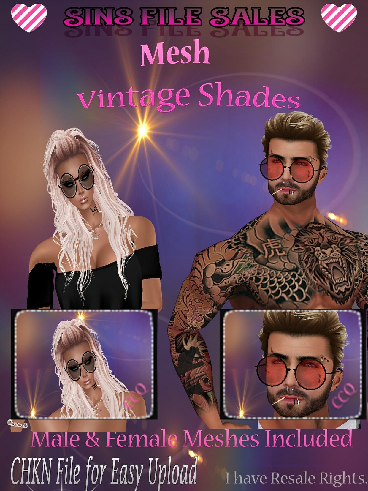 Vintage Sunglasses Male & Female Meshes