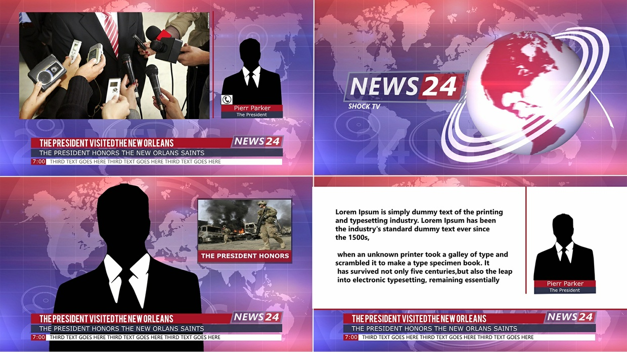 Template News Broadcast sony vegas 12 13 14