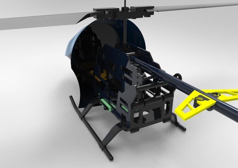 Helicopter 3D Model (solidworks 2016)