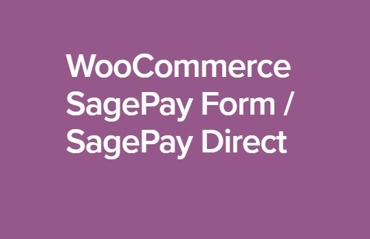 WooCommerce SagePay Form SagePay Direct 3.10.1 Extension