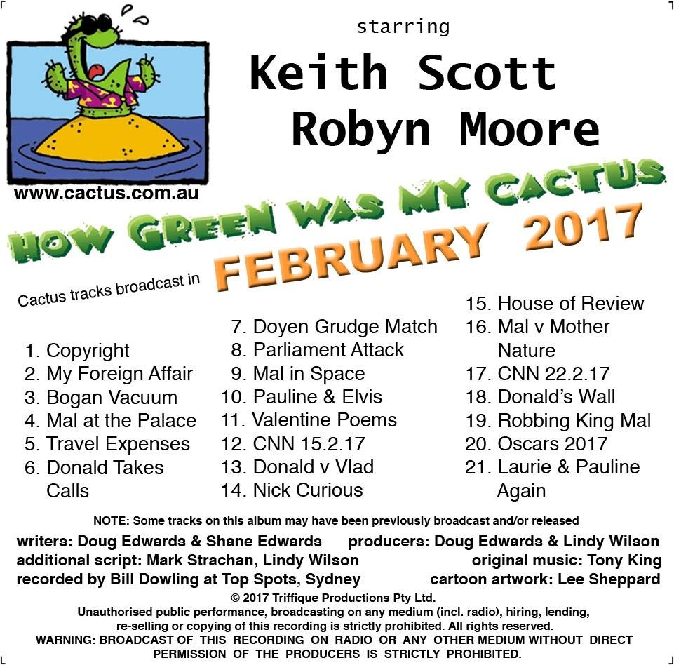 CACTUS - FEBRUARY 2017 (all tracks)