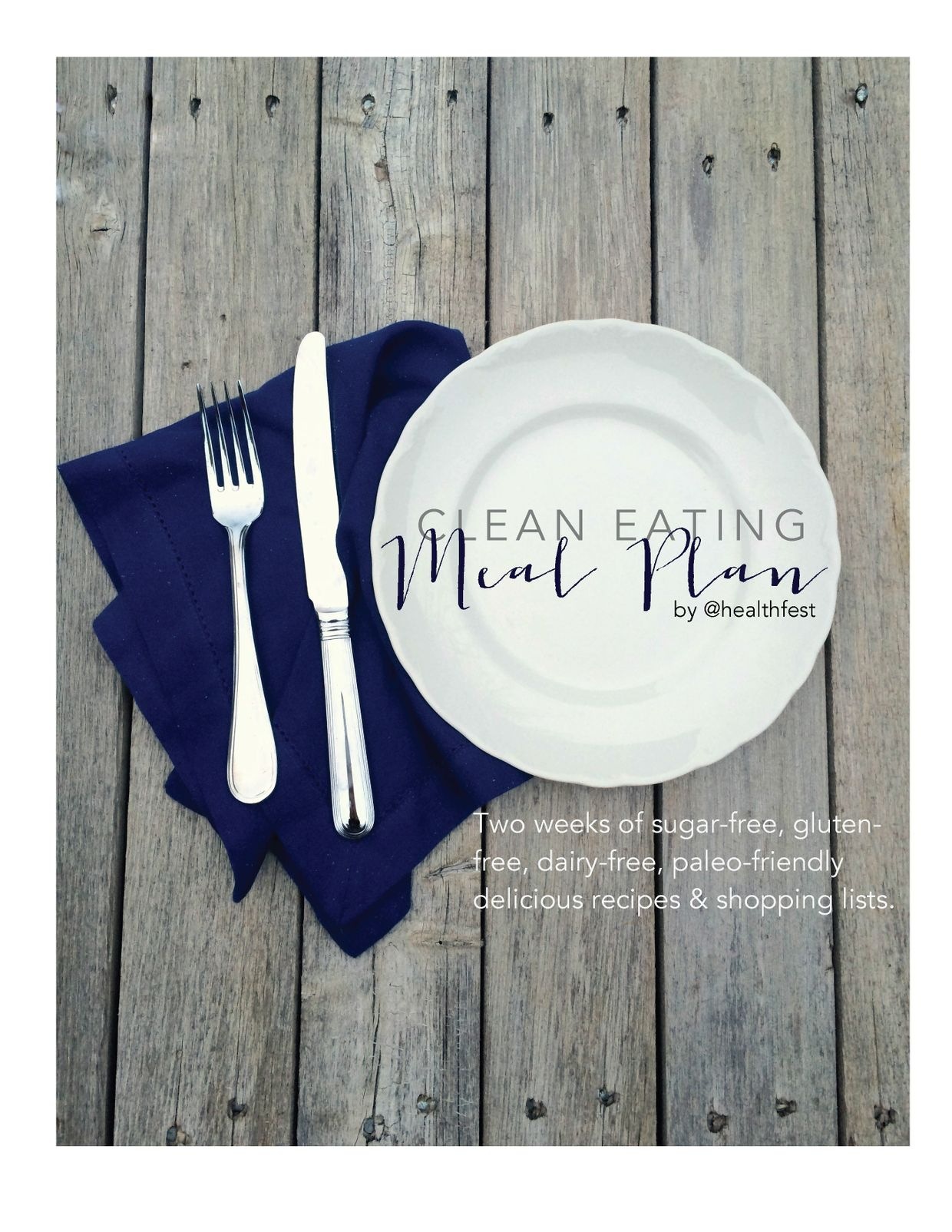 Clean Eating 2 Week Meal Plan
