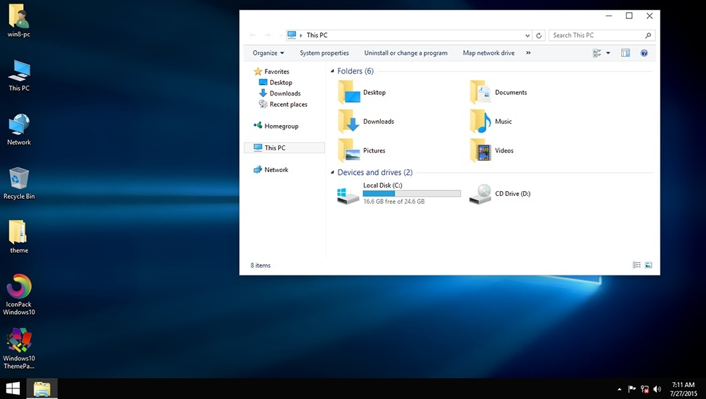 Windows10 ThemePack for Win 7/8/8.1