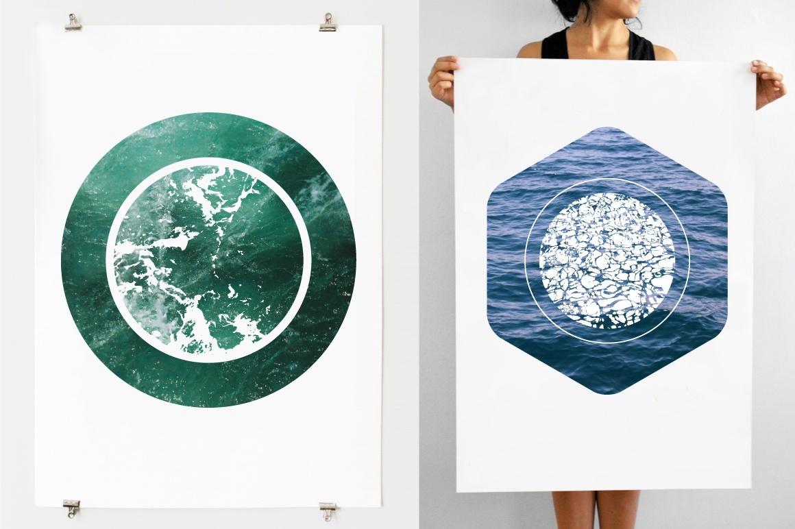 Water Textures - 12 Vectors