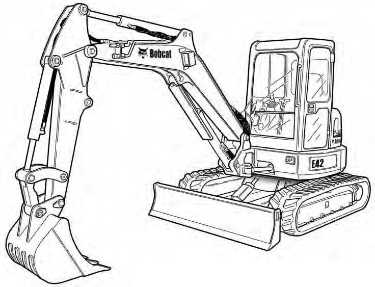 Bobcat E42 Compact Excavator Service Repair Manual Download(S/N AG3411001 & Above ...)