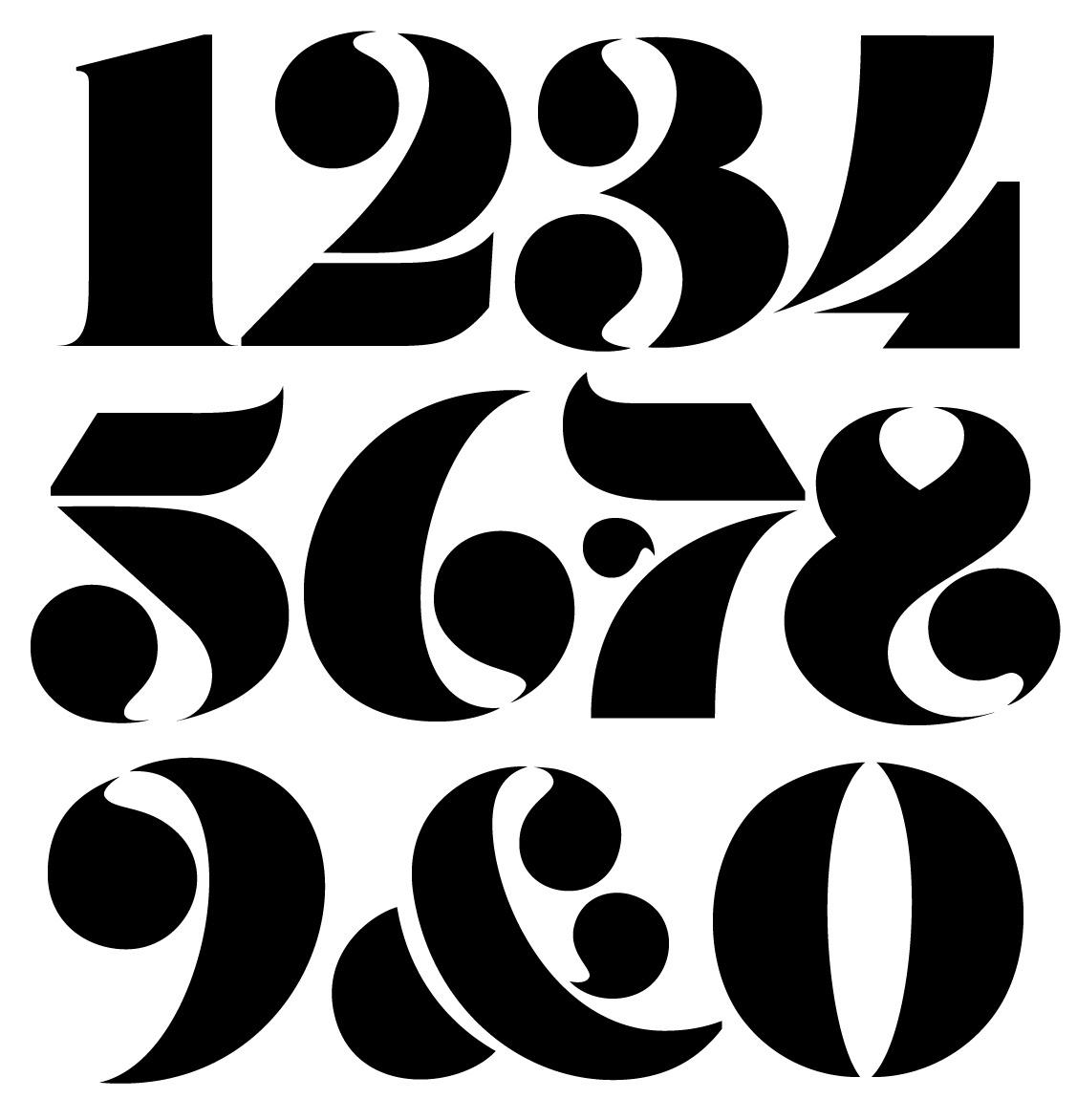 Robu Stencil Numerals Handset
