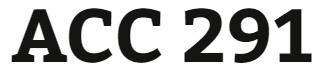 ACC 291 Week 2 Practice Quiz
