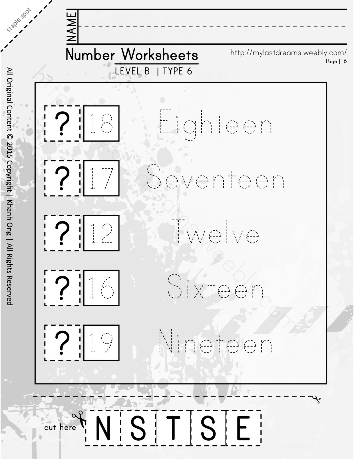 MLD - Basic Numbers Worksheets - Part 2 - Letter Sized