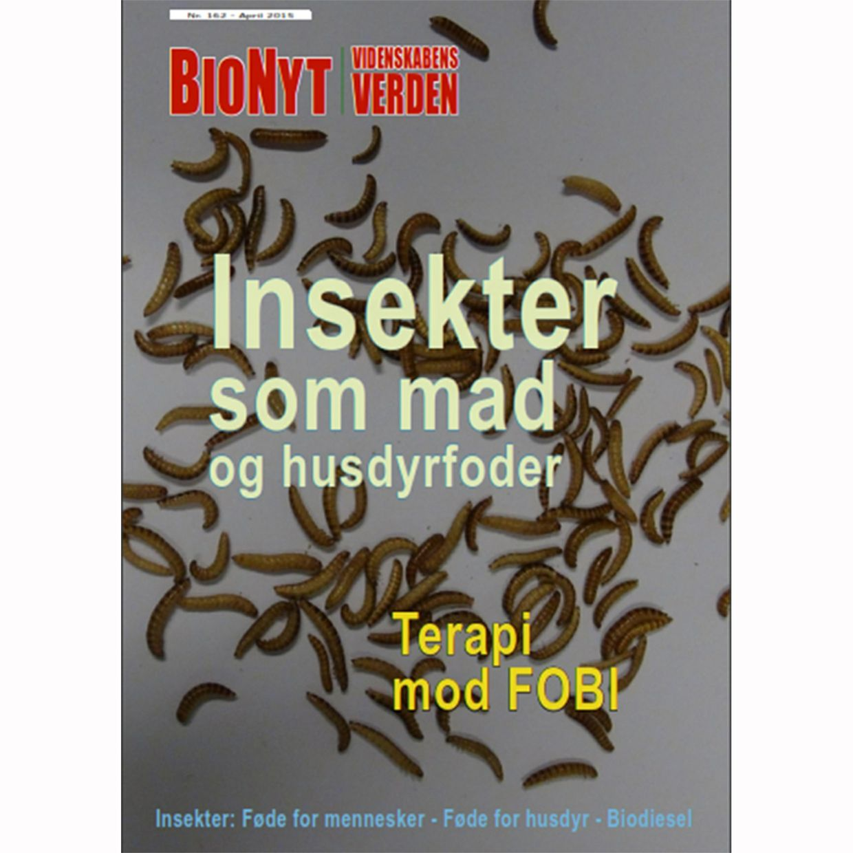 Spiselige insekter og fobi-terapi (Temanummer af BioNyt Videnskabens Verden 162)  [24$ = ca. 156 kr]