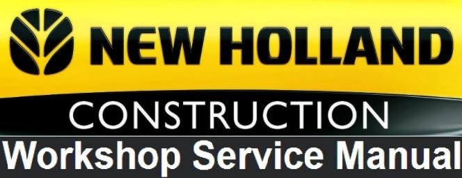 New Holland E115SR, E135SR Crawler Excavator Service Repair Workshop Manual