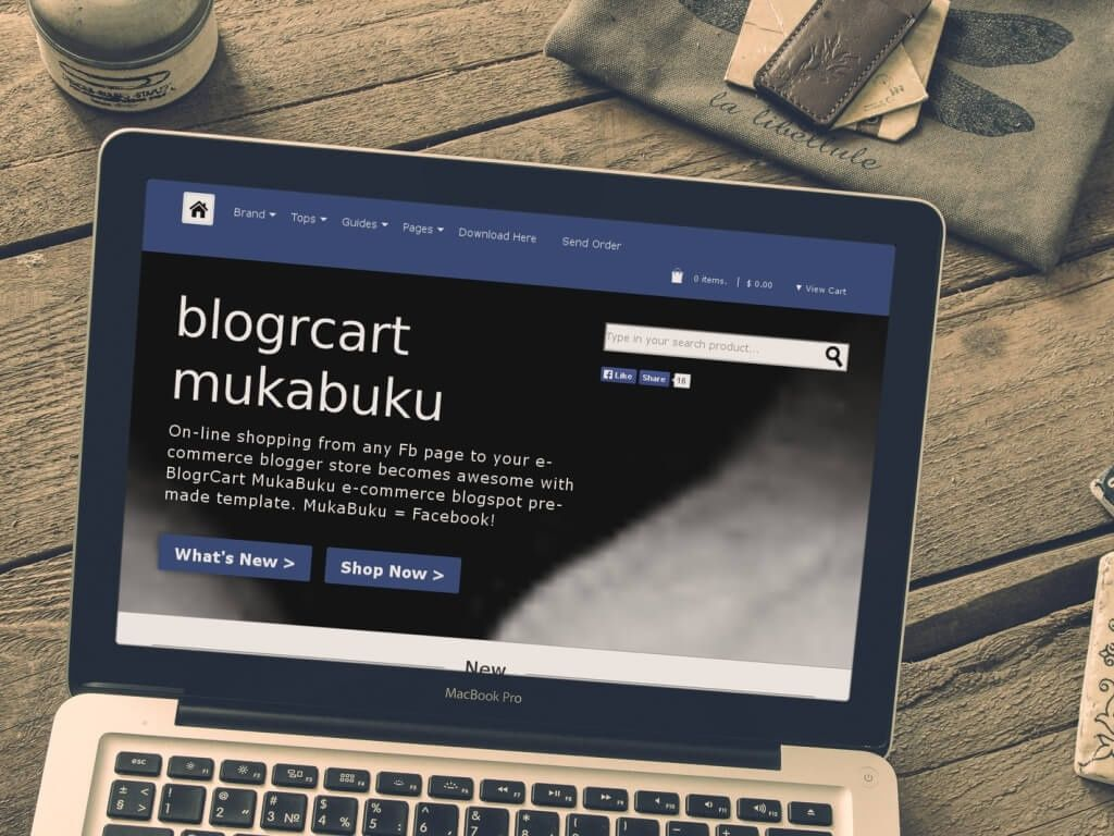 BlogrCart MUKABUKU - Shopping Cart Premade Blogger Template/Blogspot Theme
