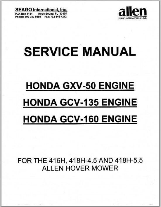 honda gxv gcv  gcv  engine repair service man