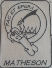Matheson Clan Crest, pes file, 2.9x3.7""