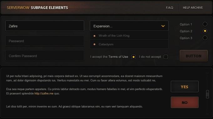 EarthGrasp MMORPG Website Design
