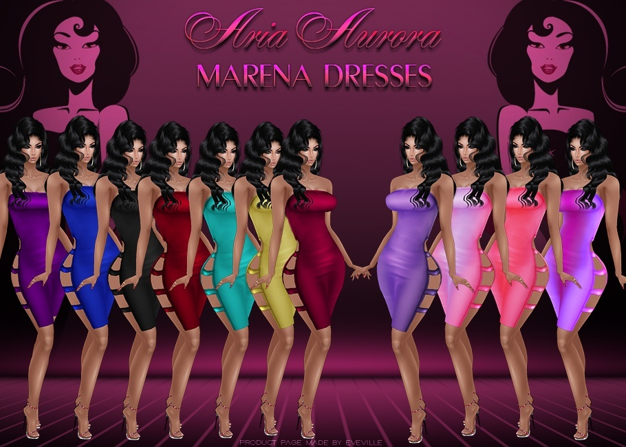 Marena Dresses ( On Sis3D Mesh) +Psd.Chatty Only