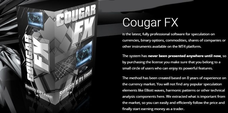 COUGAR FX MANUAL TRADING SYSTEM FOR  MT4