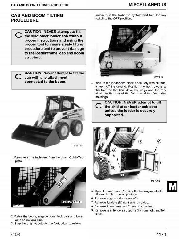 John Deere Skid Steer Loader 8875 Workshop Service Manual