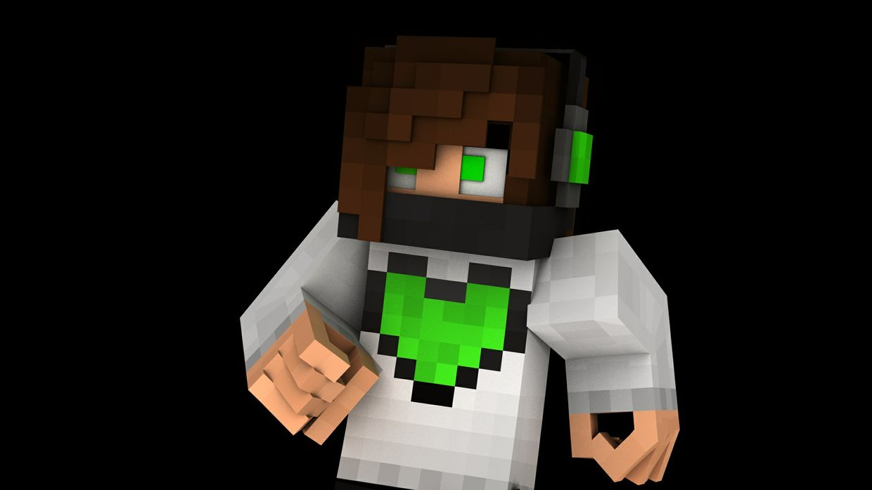 3D Minecraft Render (Extruded)