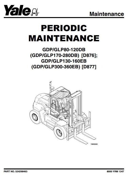yale forklift d877  gdp 300    330    360 eb  glp 300