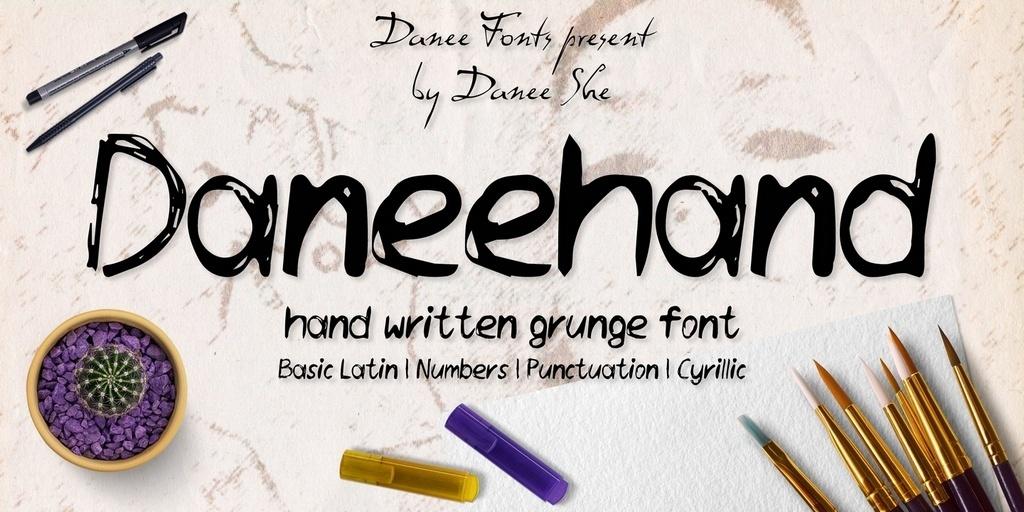 Daneehand hand written font