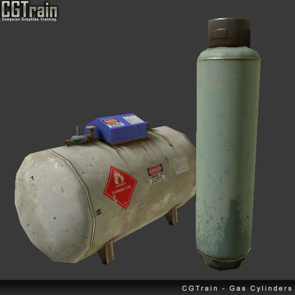 Gas Cylinders - 3D assets for games