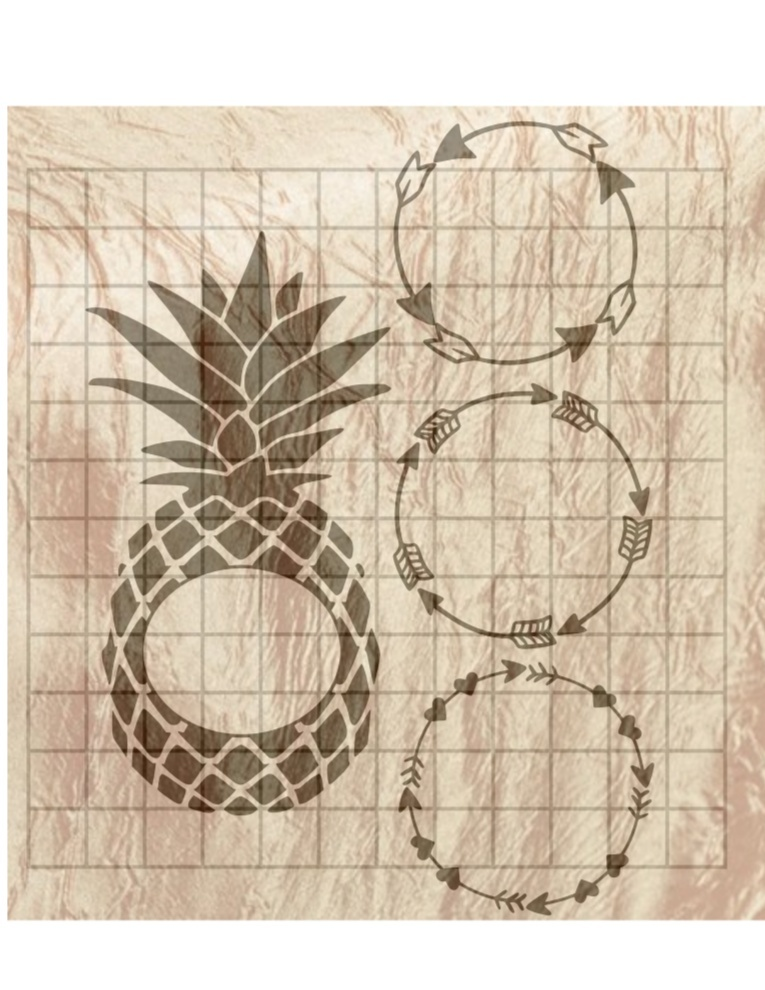 Monogram Pineapple, Monogram Circle Arrows