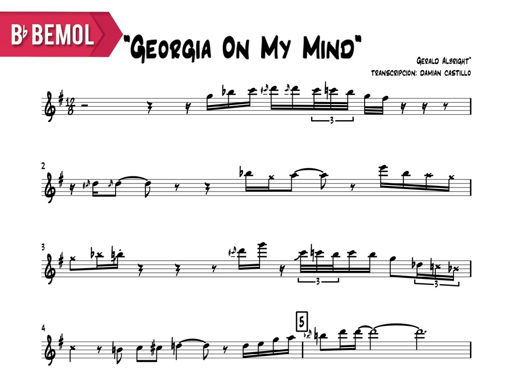 """Gerald Albright - """"Georgia On My Mind (Live At The Montreux Jazz Fest)"""" Bb"""