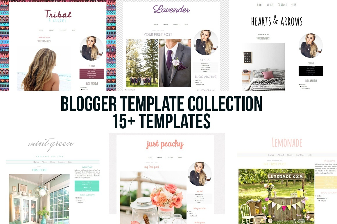 blogger blogspot template theme bundle sale