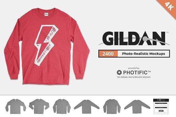 Gildan Long Sleeve Mockups