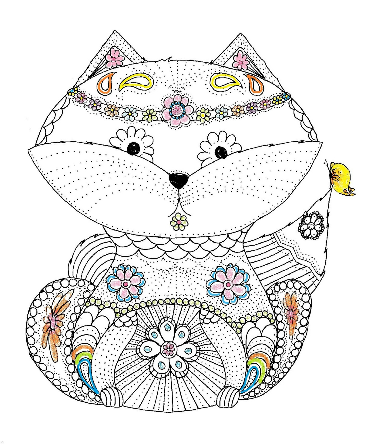Foxy Coloring Page