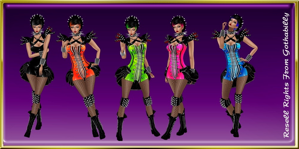 Miss Sexy Rave Goth Bundle Exclusive Catty Only!!!