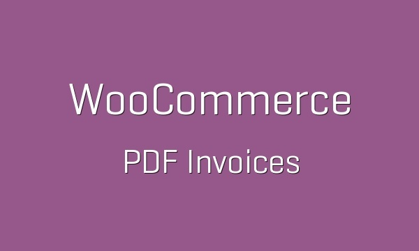 WooCommerce PDF Invoices 4.0.1 Extension