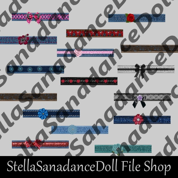S173 Denim Belts, 100 Addons, WITH RESELLRIGHTS