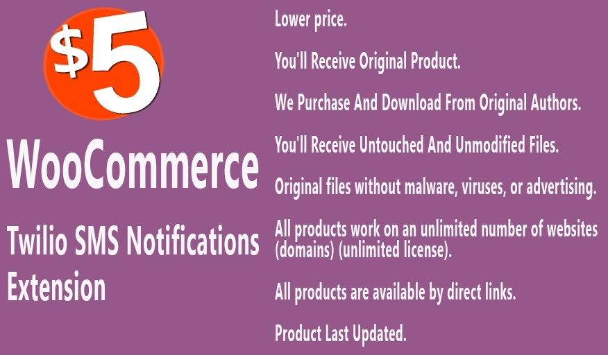 WooCommerce Twilio SMS Notifications Extension