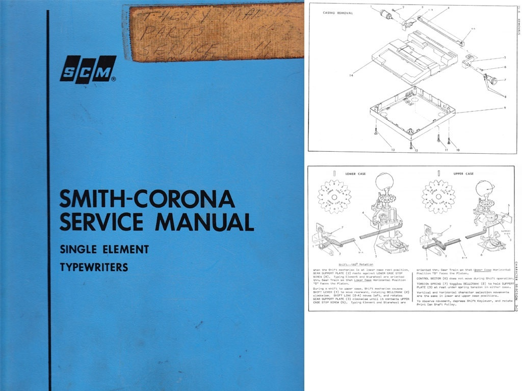 Smith-Corona Single Element Electric Typewriter Repair Adjustment Service Manual