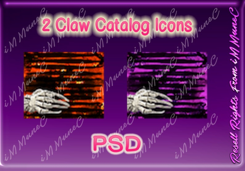 2 Claw Catalog Icons PSD (Halloween)