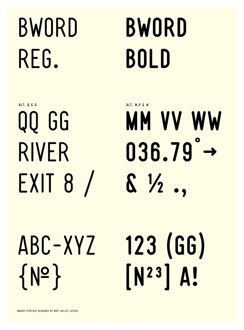 BWord Typeface Regular & Bold (1-2 User License)