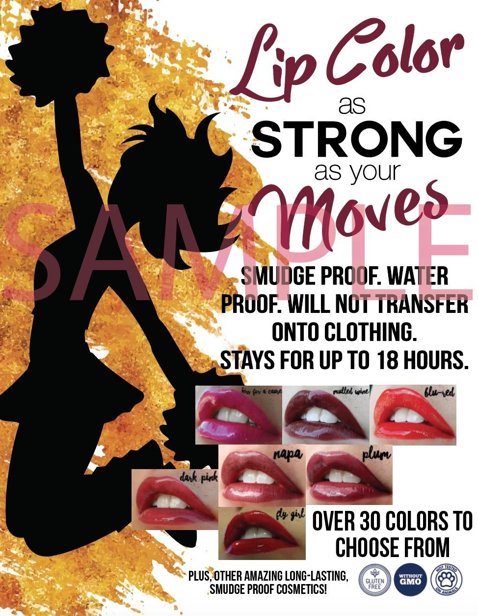 Long Lasting Lip Color - Cheer Flyer