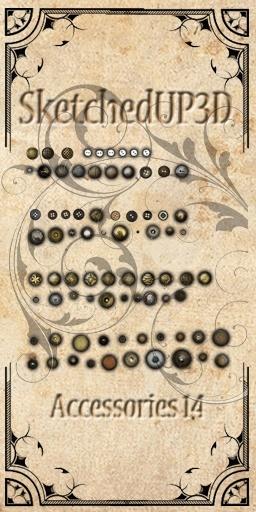 Accessories 14 - Buttons Texture Bundle