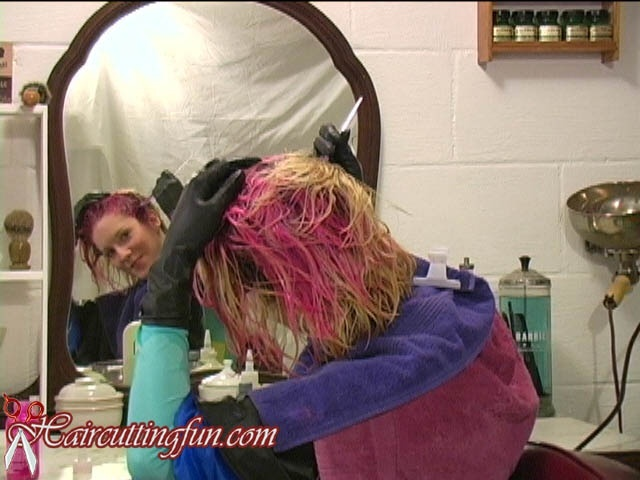 Kat's Pink Haircoloring and Foot Massage - VOD Digital Video on Demand