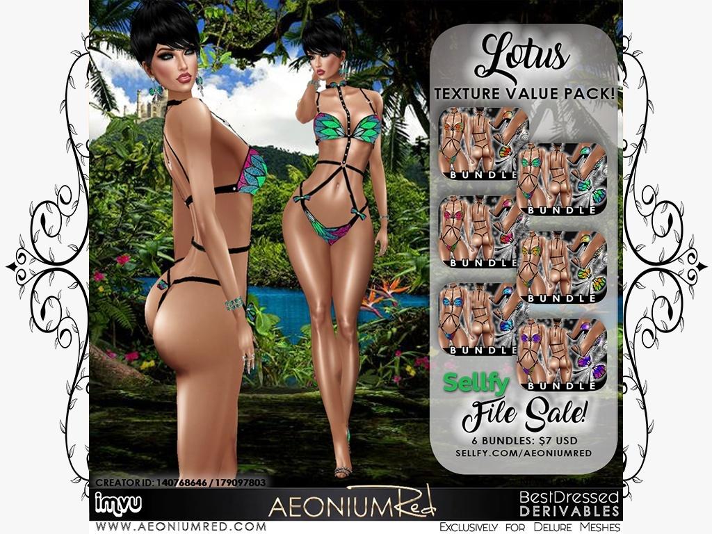 IMVU File Sale! Lotus 6 Bundles Texture Value Pack