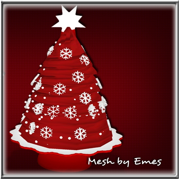 MESH-Holiday Tree Cake
